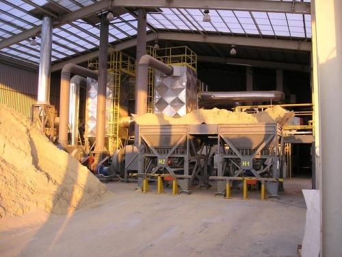 Сушка піску і інших мінеральних матеріалів